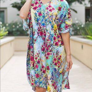 Gorgeous floral Boho cover up dress (OS)